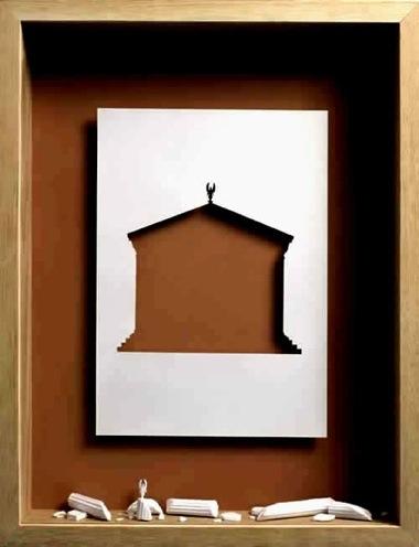 Peter callesen sculpture papier