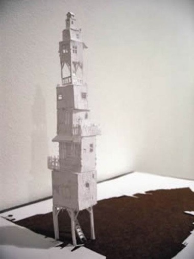 Peter callesen sculpture papier